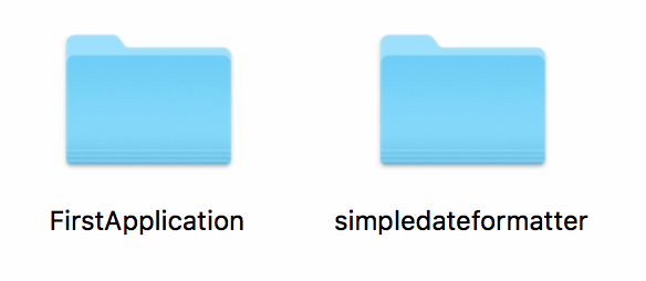 Example of project folder