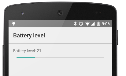 Demo of battery percentage Android app