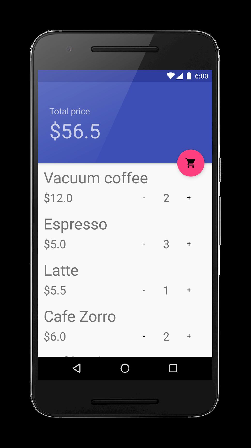 Coffee order app
