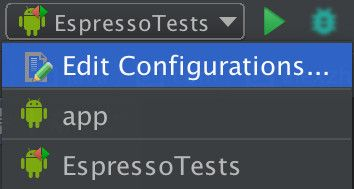 Run Espresso tests