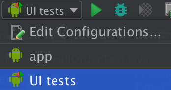 Run tests in Android Studio