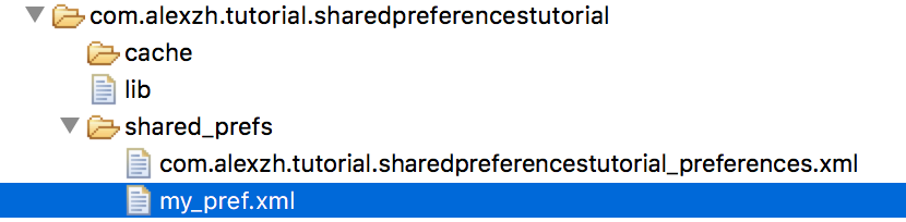 SharedPreference files on device